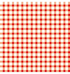 Seamless retro white-red square tablecloth vector image vector image