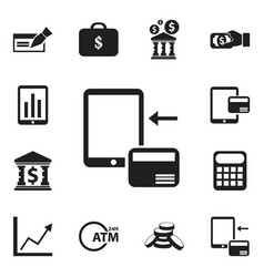 Set of 12 editable banking icons includes symbols vector