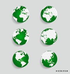 Set of modern globes vector image