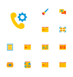 set of wd icons flat style symbols with portfolio vector image
