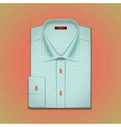 Shirt with polka dots vector