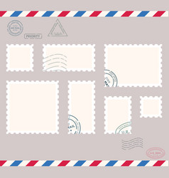 Small post stamps vector