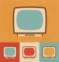 Small Television Icon vector image