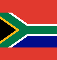 south africa flag official icon african vector image