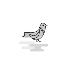 sparrow web icon flat line filled gray icon vector image