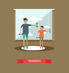 sports training concept in vector image
