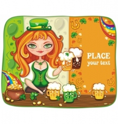 St paddy girl vector