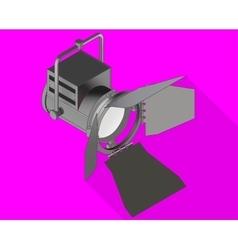 Studio light isometric flat vector