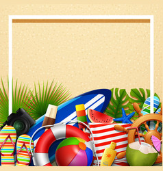 summer holidays blank background in the beach sand vector image