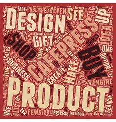 The Cafepress idea of gifts and home business text vector image