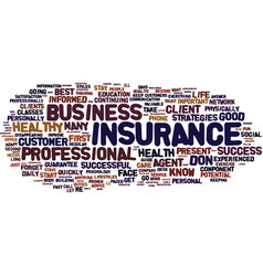 the insurance agent s guide to success text vector image