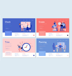 Time management concept banners vector
