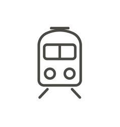 train icon line subway symbol vector image