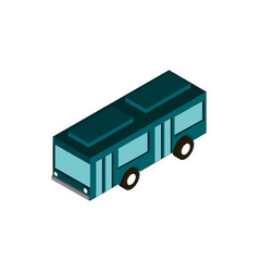 transport urban bus public vehicle isometric icon vector image