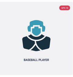 Two color baseball player icon from professions vector