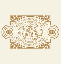 Vintage logo template layered vector