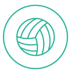 Volleyball ball line icon vector image