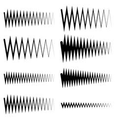 Wavy zigzag eq equalizer lines amplitude vector