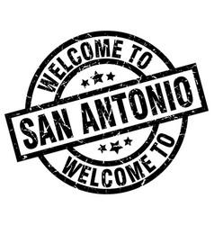 Welcome to san antonio black stamp vector