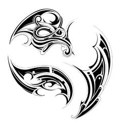 Maori tattoo set vector image