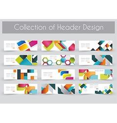 Mega pac kHeader design template set vector image vector image