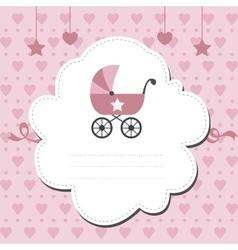 New baby shower invitation vector image
