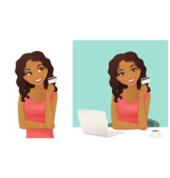 On line shopping vector image