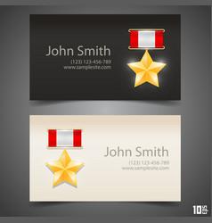 Card medal hero vector