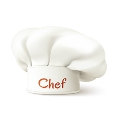 Chef Hat Realistic vector image