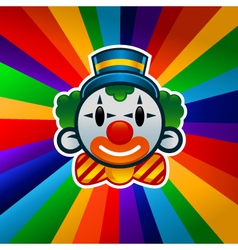 Colorful Birthday Clown vector image vector image