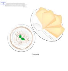 Hummus or Israeli Chickpeas Spread Dip or Spread vector image vector image