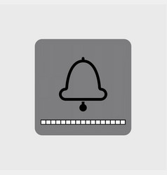 modern bell icon with a volume scale vector image vector image