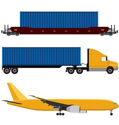 Network logistics vector image