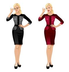 office girls vector image