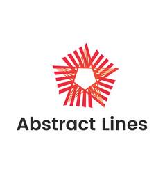 shape logo design template modern star abstact vector image
