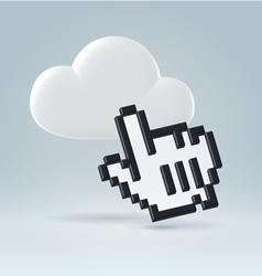 Accessing the cloud vector image vector image