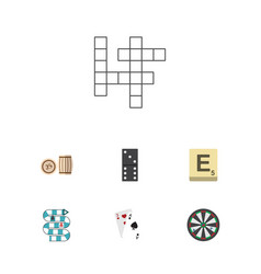 flat icon play set of ace guess multiplayer and vector image vector image