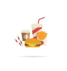 Hamburger and attributes vector image vector image