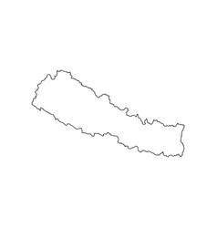 nepal map silhouette vector image