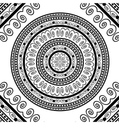 Round Ornamental Geometric Doily Pattern vector image