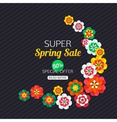 Summer Sale Banner with paper butterfly Summer vector image vector image