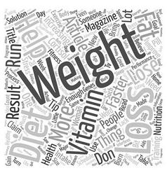 Weight Loss Tips Guaranteed To Help You Lose vector image vector image