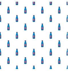 bottle cream pattern seamless vector image