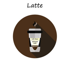 coffee cup coffee latte vector image