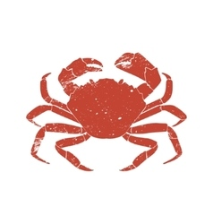 crab grunge silhouette isolated on white vector image