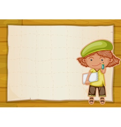 girl and cloth vector image vector image