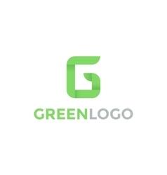 Greeen Letter G Logo vector image