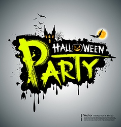 Halloween party message design vector image vector image