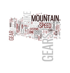 the intricacies of mountain bike gears text vector image vector image