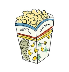 A pop corn is placed vector